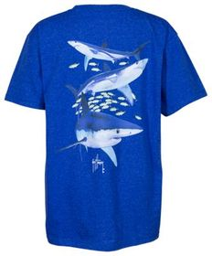 Guy Harvey Mako Reef Short-Sleeve T-Shirt for Kids