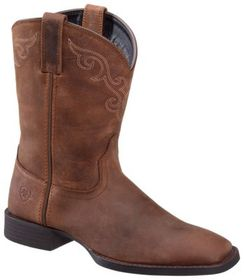 Ariat Roper Wide Square Toe Western Boots for Ladi