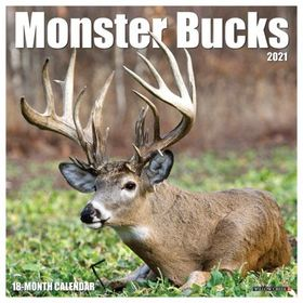 Willow Creek 2021 Monster Bucks 18-Month Wall Cale