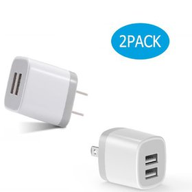 USB Charger Cube,Wall Charger Plug,Dual Port USB A