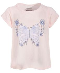 Baby Girls Cotton Butterfly T-Shirt, Created for M