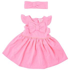Toddler Girl Sweet Heart Rose 2pc. Pink Bow Knit D