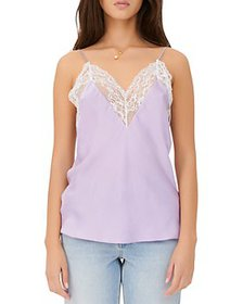 Maje - Leatoni Silk Lace Trim Camisole