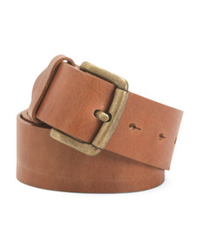 Made In Italy Leather Roller Belt
