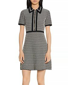 Sandro - Polie Stretch Tweed Short Dress