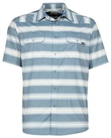 Ascend Bold Woven Striped Short-Sleeve Shirt for M