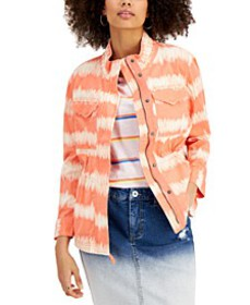 Tie-Dyed Twill Jacket, Created for Macy's