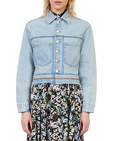 Maje - Berga Denim Jacket with Frayed Hem