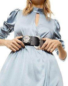 The Kooples - Women's Large Round Buckle Leather B