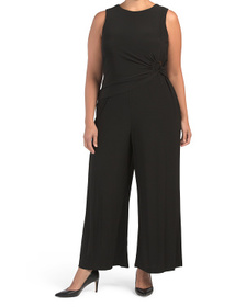 Plus Jumpsuit With Ruched Waist Detail