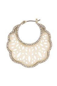 Marchesa Pave Crystal Mother-of-Pearl Scalloped Ho