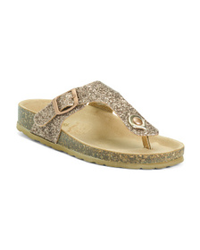 Made In Italy Glitter Sandals (Toddler)