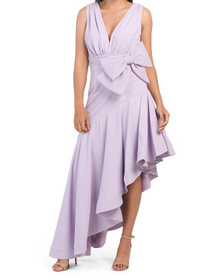 Bow Ruffle Gown