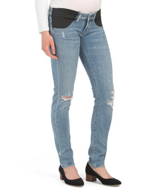 Made In Usa Maternity Low Rise Skinny Jeans