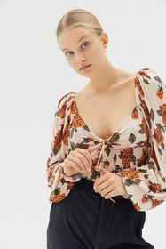 UO Old Soul Smocked Top