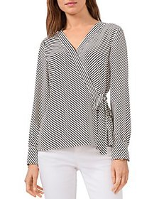 VINCE CAMUTO - Striped Wrap Top