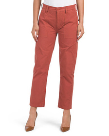 Utility Straight Pants With Pork Chop Pockets