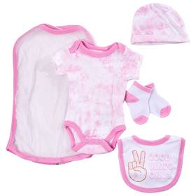 Baby Girl (NB-9M) Quiltex 5pc. Good Vibes Only Han
