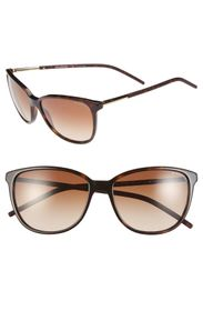 Burberry 57mm Rounded Cat Eye Sunglasses