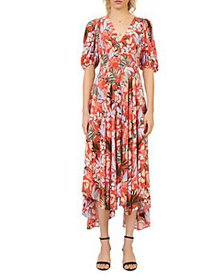 Maje - Rehana Floral Printed Midi Dress
