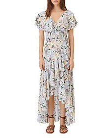 Maje - Rivale Asymmetrical Floral Print Maxi Dress