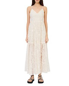 Maje - Roliana Embroidered Organza Sun Dress