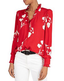ba&sh - Paiton Ruffled Floral Blouse