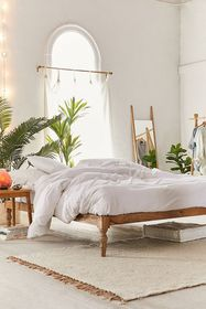 Bohemian Mango Wood Platform Bed