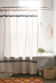 Tassel Stripe Shower Curtain