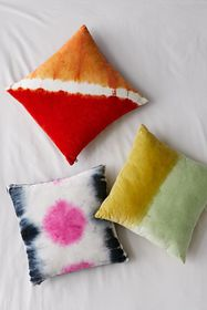 Tie-Dye Velvet Throw Pillow