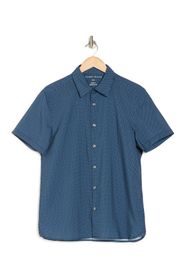 Perry Ellis Short Sleeve Triangle Button Front Shi