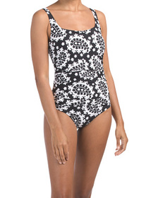 Square Neck One-piece Swimsuit