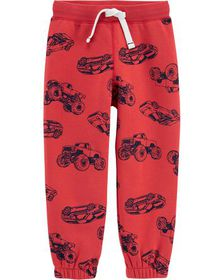 carters Cars Pull-On Fleece-Lined Joggers