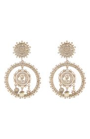 Marchesa Large Coin Double Drop Earrings