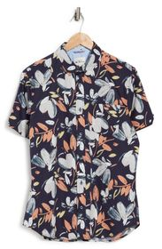 Ben Sherman Hand Drawn Floral Print Short Sleeve S
