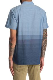 Perry Ellis Short Sleeve Ombre Stripe Collared Shi