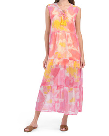 Totally Tie Dye Cover-up Maxi Dress