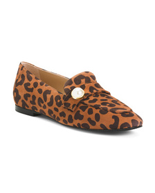 Made In Spain Suede Printed Loafers