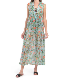 Bamboo Ruffle Tiered Maxi Cover-up