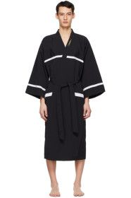 we11done - Black Night Gown Robe