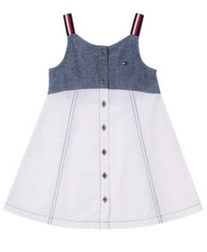 Toddler Girls Chambray and Twill Sundress
