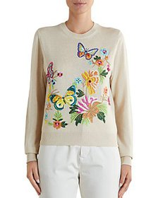Etro - Butterfly Embroidered Sweater