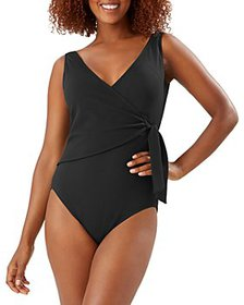 Tommy Bahama - Pique Colada Wrap Front One Piece S