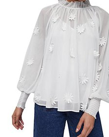 FRENCH CONNECTION - Aziza Lace Long Sleeve Top