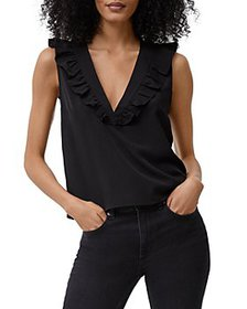 FRENCH CONNECTION - Ruffled V Neck Top