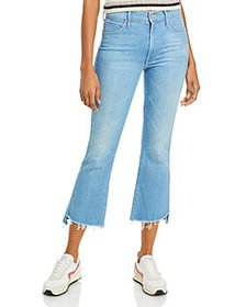 MOTHER - The Insider Crop Step Ankle Flare Jeans i