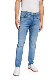 7 for all mankind Men's Paxtyn Light-Wash Skinny J