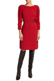 Lafayette 148 New York Romilly Finesse Crepe Dress