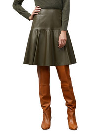 Lafayette 148 New York Fran A-Line Leather Skirt