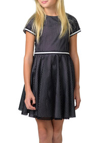 Zoe Girl's Perforated Knit Fit-and-Flare Dress, Si